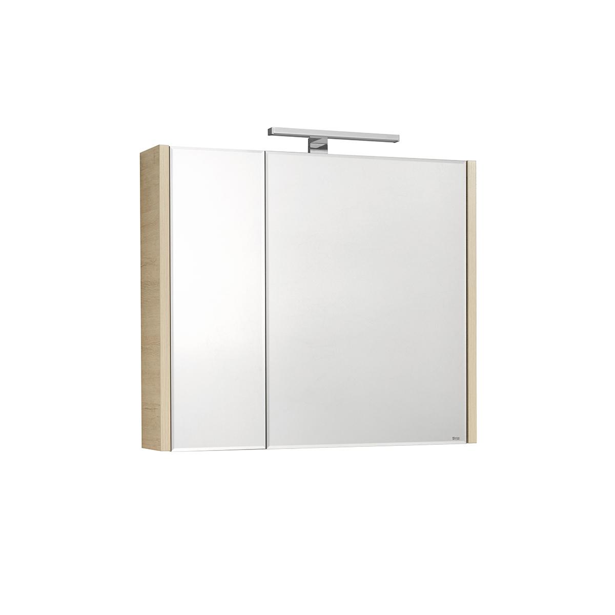 Фото - Зеркальный шкаф Roca Etna 80 см дуб верона 857304445 шкаф пенал roca etna 45 857303806 подвесной белый глянцевый