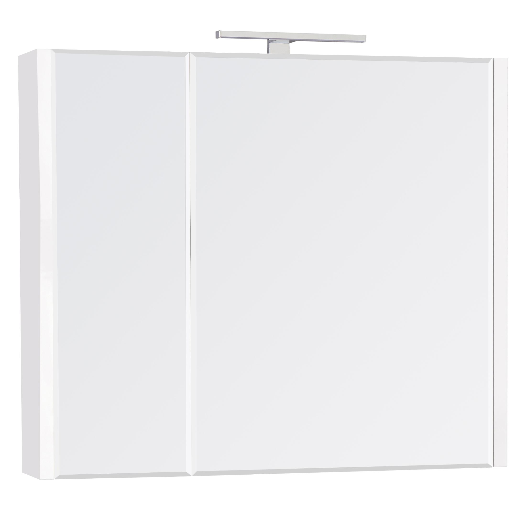 Фото - Зеркальный шкаф Roca Etna 80 см белый глянец 857304806 шкаф пенал roca etna 45 857303806 подвесной белый глянцевый