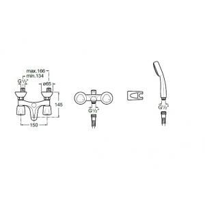 Смеситель для ванны Roca Brava с душем 5A0130C02