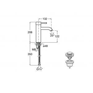 Смеситель для раковины Roca Lanta для раковины 5A3C11C00