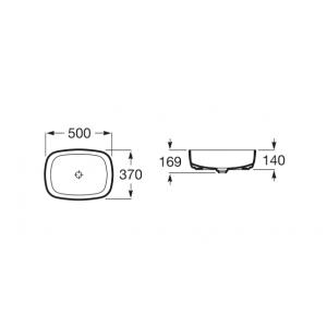 Раковина Roca Inspira Soft 37х50 см, накладная 327500000