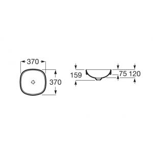 Раковина Roca Inspira Soft 37х37 см, накладная 32750R000