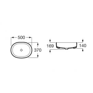 Раковина Roca Inspira Round 37x50 см, накладная 327520000