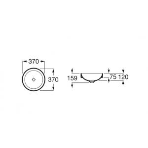 Раковина Roca Inspira Round WB SI 37x37 см, накладная 32752R000