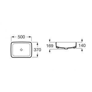 Раковина Roca Inspira Square 37x50 см, накладная 327530000