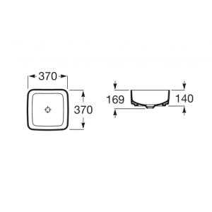 Раковина Roca Inspira Square 37x37 см, накладная 327532000