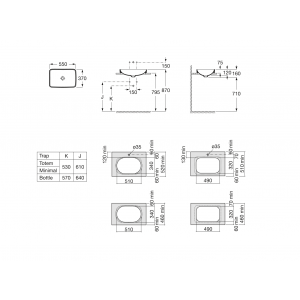 Раковина Roca Inspira WB Square 37х55 см, накладная 327534000