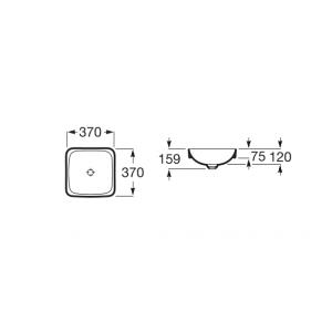 Раковина Roca Inspira Square 37x37 см, накладная 32753R000