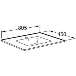 Раковина Roca Victoria Unik Oval 80x46 см, мебельная 327826000