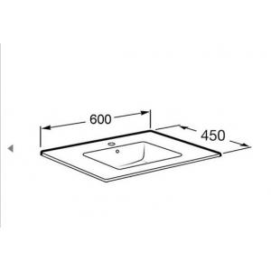 Раковина Roca Victoria Unik Oval 60x46 см, мебельная 327827000