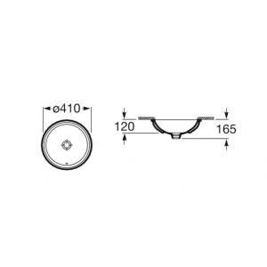 Раковина Roca Foro D41 см, встраиваемая снизу 327884000