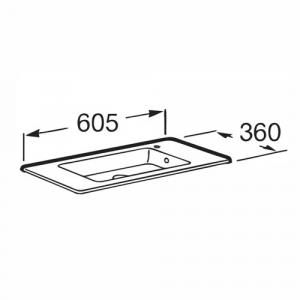 Раковина Roca Debba Unik 60x36 см, мебельная 32799H00Y