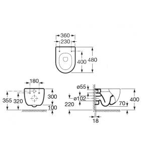 Чаша унитаза Roca Meridian Compact подвесная 346248000