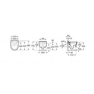 Чаша унитаза Roca Inspira Round Compact подвесная безободковая 346528000