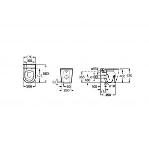 Чаша унитаза Roca Inspira Round напольная 347527000