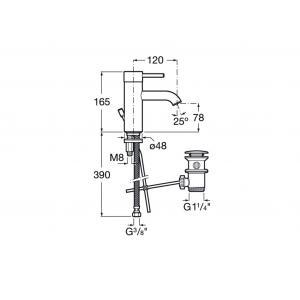 Смеситель для раковины Roca Lanta для раковины 5A3011C00