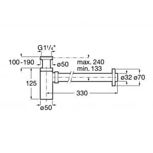 Сифон Roca Basic для раковины цилиндрический 506406300