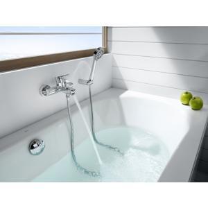 Смеситель для ванны Roca L20 с душем, длина излива 15,9 см, 5A0109C0M