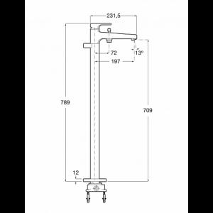 Смеситель Roca L90 для ванны-душа напольный 5A2701C00