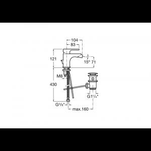 Смеситель для биде Roca L20 с донным клапаном 5A6A09C0M