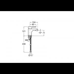 Смеситель для биде Roca L20 5A6B09C0M