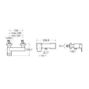 Смеситель Roca L90С для душа 5A2D01C00