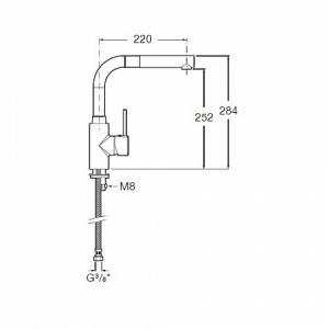 Смеситель для кухни Roca TARGA, с вытяжной лейкой 5A8560C00