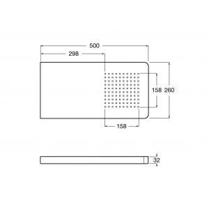 Насадка для верхнего душа Roca Puzzle настенная 500х260 мм 5A9878C00