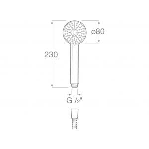 Ручной душ Roca Stella, 80/3, хром 5B1103C00