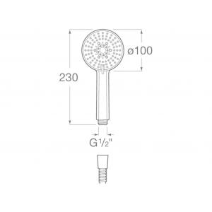 Ручной душ Roca Stella, 100/3, хром 5B1B03C00