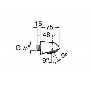 Насадка для верхнего душа Roca Fit настенная антивандальная 5B6661C00