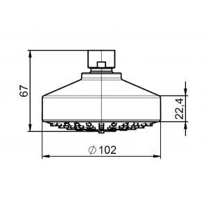 Насадка для верхнего душа Roca Stella D100 мм, 1 режим 5BH103C00