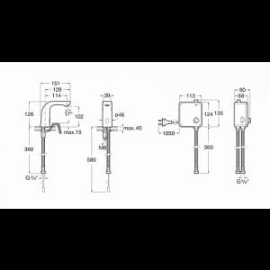 Смеситель для раковины Roca L20-E, электронный 5A5509C00
