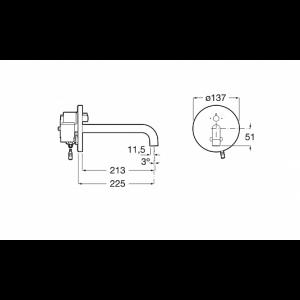 Смеситель для раковины Roca Sentronic-E 5A4602C00