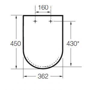 Крышка для унитаза Roca Meridian, петли хром 8012A0004