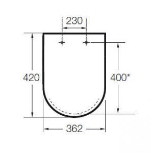 Крышка для унитаза Roca Meridian, петли хром 8012AB004