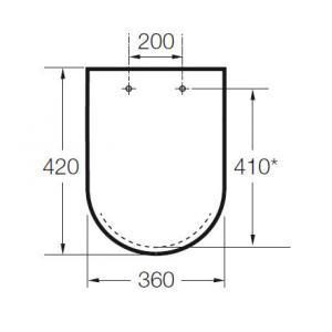 Крышка для унитаза Roca Hall Soft Close, петли хром 801622004