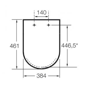 Крышка для унитаза Roca Beyond Soft Close коричневая 801B8266B