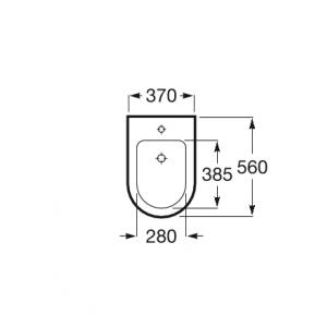 Крышка для биде Roca Inspira Round Soft Close, жемчужный 80652263B