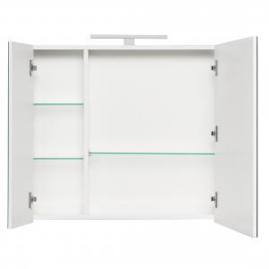 Комплект Roca Etna 80 см, белый глянец: тумба с раковиной, зеркальный шкаф, смеситель 857301806GRP-1