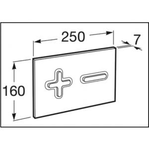 Клавиша для инсталляции Roca PL-6 двойной смыв, цвет белый+матовый хром 890085005