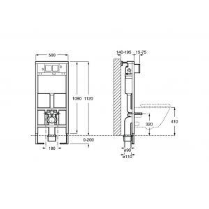 Комплект 4 в 1 Roca Meridian Compact, 346248000GRP-0