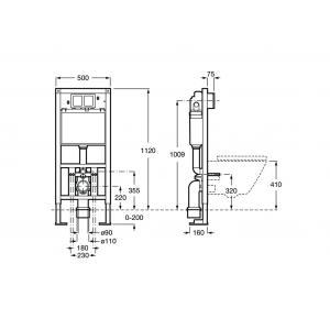 Система инсталляции Roca Duplo отдельностоящая 890090700