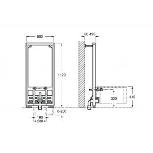 Система инсталляции Roca Duplo 890091200 для биде