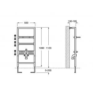 Система инсталляции Roca Duplo рама для раковины 890093000