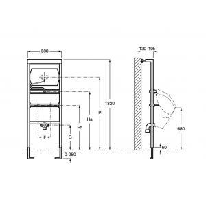Система инсталляции Roca Duplo Urinario для писсуара 890094100
