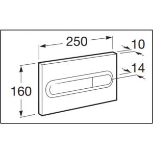 Клавиша для инсталляции Roca PL-1 двойной смыв, глянцевый хром 890095001