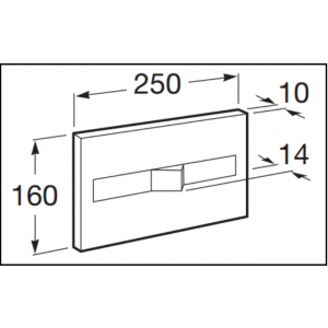 Клавиша для инсталляции Roca PL-2 двойной смыв, глянцевый хром 890096001