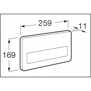 Клавиша для инсталляции Roca PL-3 двойной смыв, нержавеющая сталь 890097004