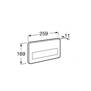 Клавиша для инсталляции Roca Duplo PL-3 одинарный смыв, нержавеющая сталь 890097104